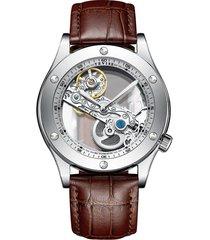 reloj luminoso multifuncional de negocios masculino-blanco