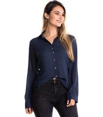 blusa camisera manga larga-azul oscuro-kolor latino