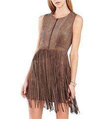 hamin fringe faux suede vest dress qvv64io5