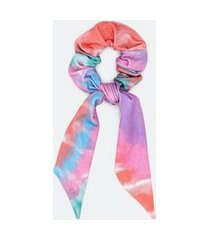 scrunchie alongado com estampa tie dye   accessories   multicores   u