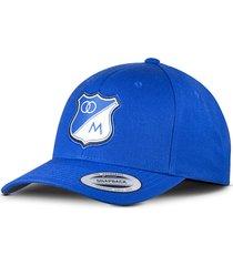 gorra oficial azul millonarios flexfit otocaps fmip-001 azul