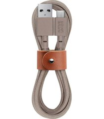 belt usb-a to usb-c charging cable - taupe