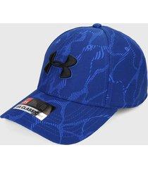 gorra azul-negro under armour printed blitzing 3.0,