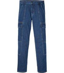 jeans cargo in cotone biologico regular fit straight (blu) - rainbow