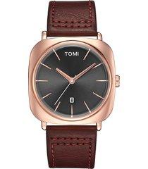 orologi da uomo di moda bussiness date date quadrante al quarzo minimalista orologi orologi da uomo in pelle