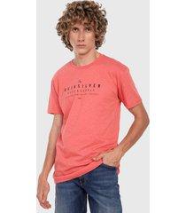 camiseta coral-negro quiksilver half past