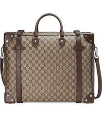 gucci gg supreme canvas travel bag - neutrals