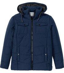giacca trapuntata sostenibile con poliestere riciclato (blu) - john baner jeanswear