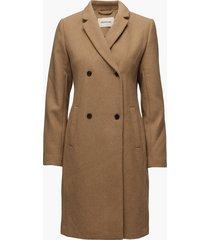 odelia coat wollen jas lange jas bruin modström