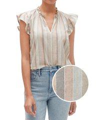 blusa sin mangas lurex multicolor gap