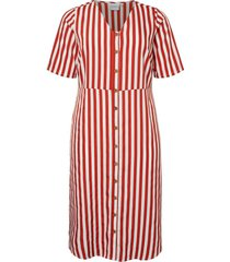 jurk gestreepte blouse