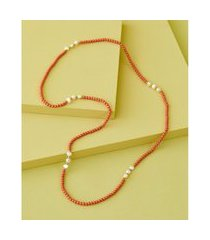 colar de resina - colar heaven cor: laranja - tamanho: único