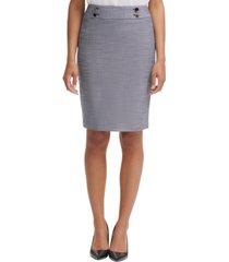 calvin klein button-waist pencil skirt
