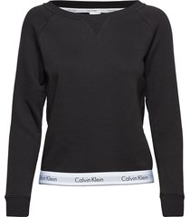 top sweatshirt long, top zwart calvin klein
