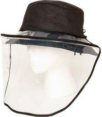bindya women's riley face shield hat - black