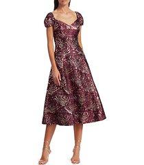 brocade fit & flare dress