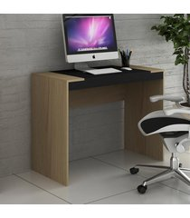 mesa escrivaninha 100 cm avelã tx/onix tx ho-2901 - hecol