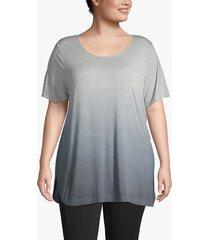 lane bryant women's active dip-dye tunic 14/16 dark heather gray
