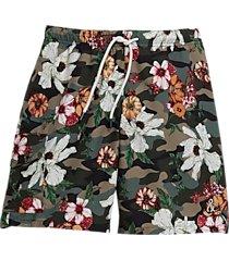 paisley & gray slim fit swim trunks khaki camo and floral