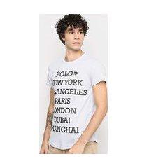 camiseta polo rg 518 cidades masculina