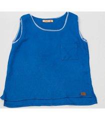 blusa regata cool azul royal