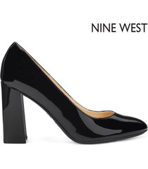 tacón medio para mujer nine west arya- negro