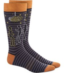 bar iii men's black disco party socks, created for macy's