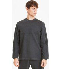 porsche design raglan long sleeve racesweater voor heren, grijs/heide, maat xs | puma