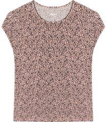 camiseta m/c con estampado animal print color negro, talla l