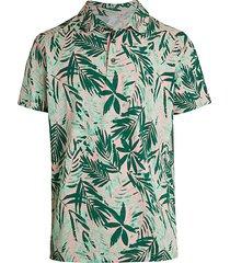 bonobos men's two-tone palm leaf pique golf polo - tropical green - size s