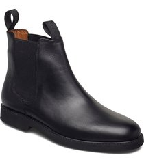 chelsea leather polaris shoes chelsea boots svart sebago