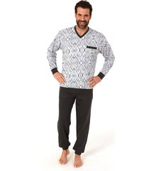 heren pyjama newmen 66419-s/48-blauw
