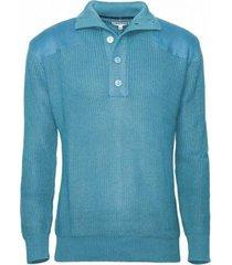 sweater botón medio calipso oscuro kotting