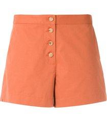 eva doris tailored shorts - orange