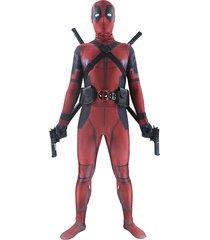 halloween lycra spandex adult zentai 3d deadpool cosplay costume full bodysuit