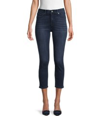 true religion women's halle high-rise contour capri skinny jeans - smoke - size 26 (2-4)