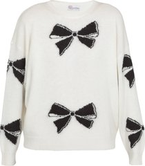 red valentino sweater with bows pattern