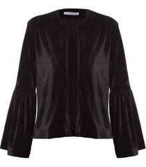 casaqueto veludo isabella fiorentino para oqvestir - preto