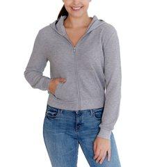 rebellious one juniors' waffle-knit hoodie