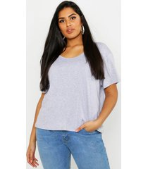 plus super soft oversized basic t-shirt, grey