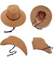 cappello da paglia per il tempo libero traspirante leggero pieghevole antivento da uomo