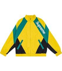 supreme paneled track jacket - yellow