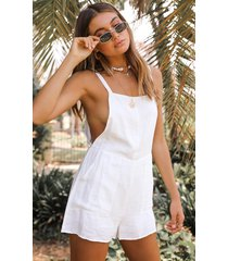 showpo bird sounds playsuit in white - 6 (xs) casual rompers