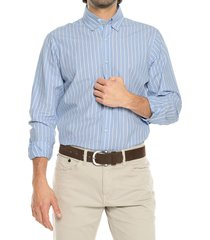 camisa azul blanco preppy ml rayas bd