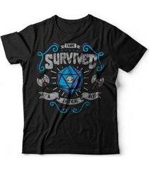 camiseta critical hit studio geek - unissex