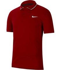 camiseta polo nike court dry team - rojo