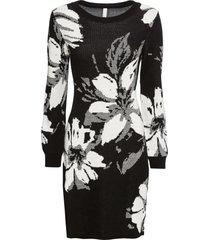 abito in maglia a fiori (nero) - bodyflirt boutique