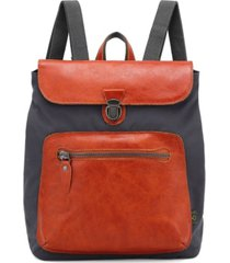 tsd brand valley trail coated canvas backpack