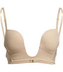 deep v-bra lingerie bras & tops push-up bra beige magic bodyfashion