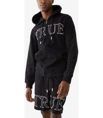men's outline logo zip-up hoodie